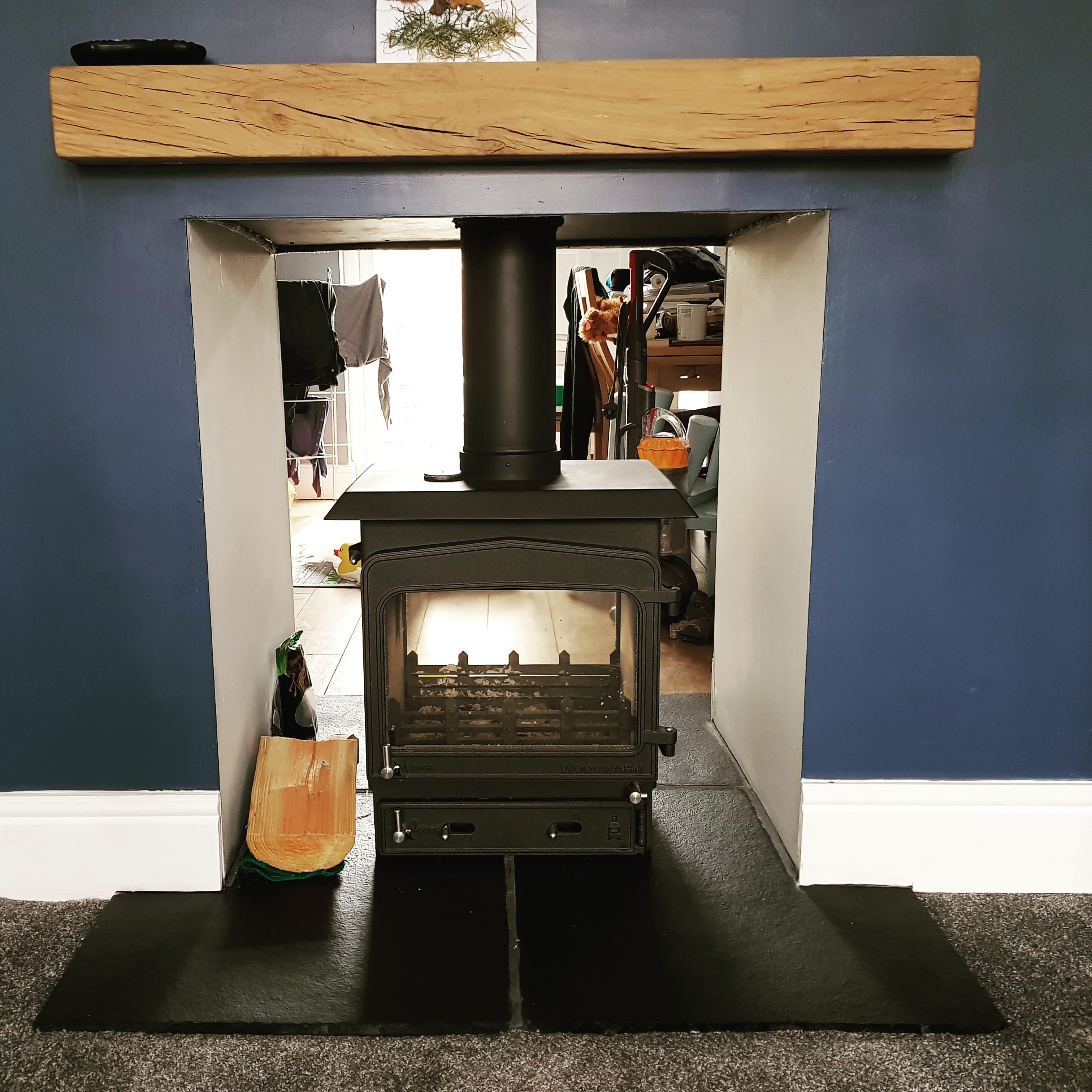 free standiong stove installation