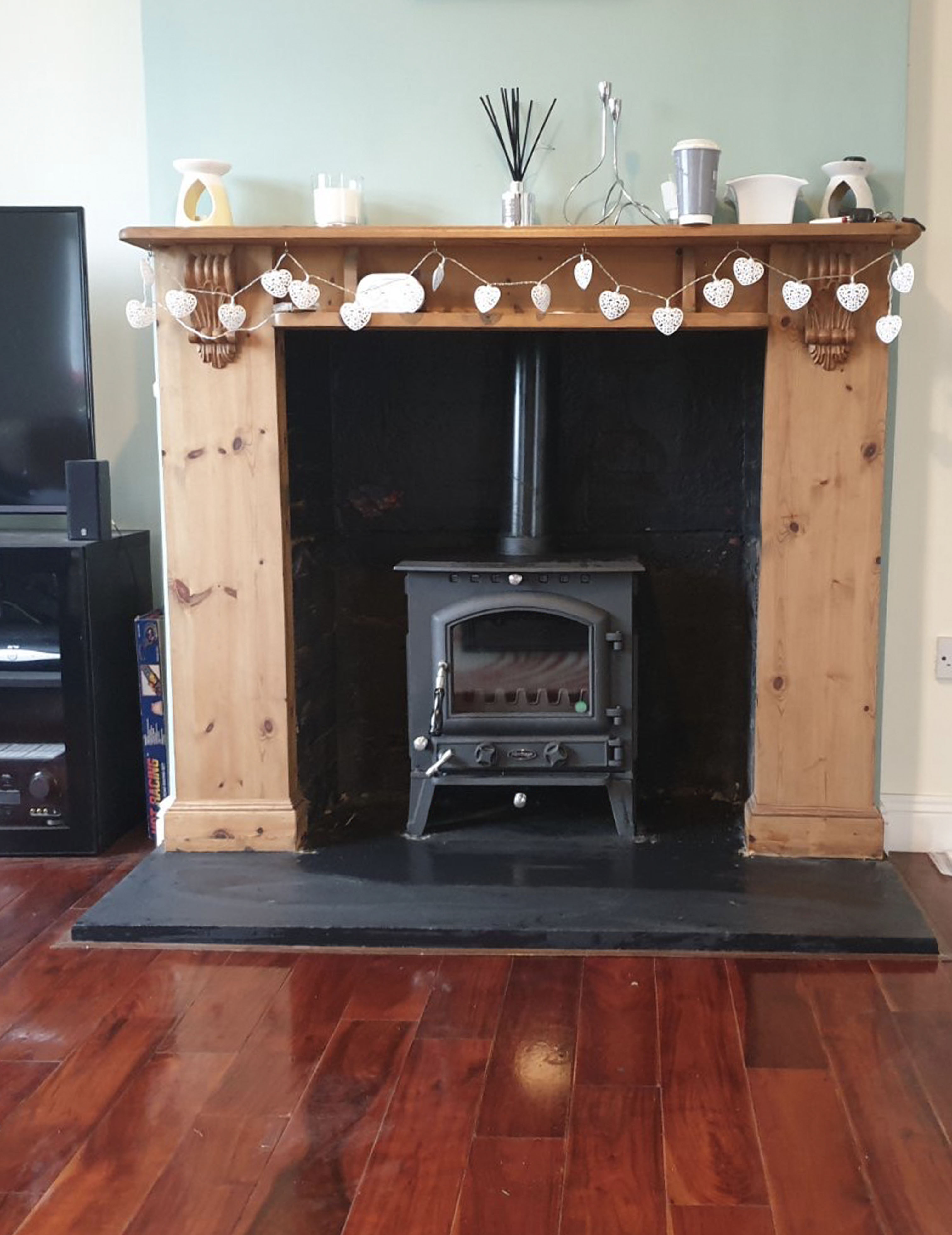 insert stove fitted